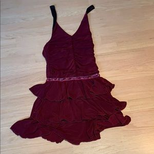 Other - Maroon halter dress with embellished sequins